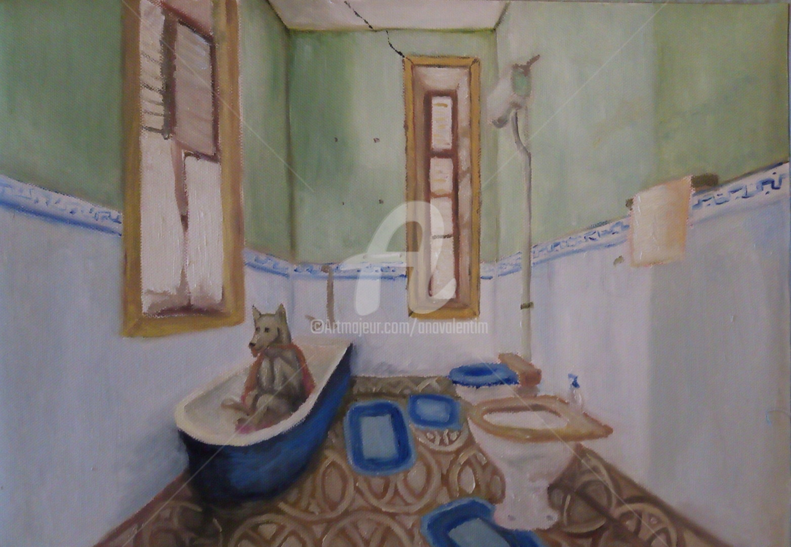 Ana Valentim - Dog in the bathroom